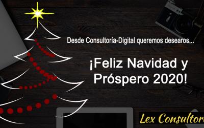 Feliz Navidad y Próspero Año 2020