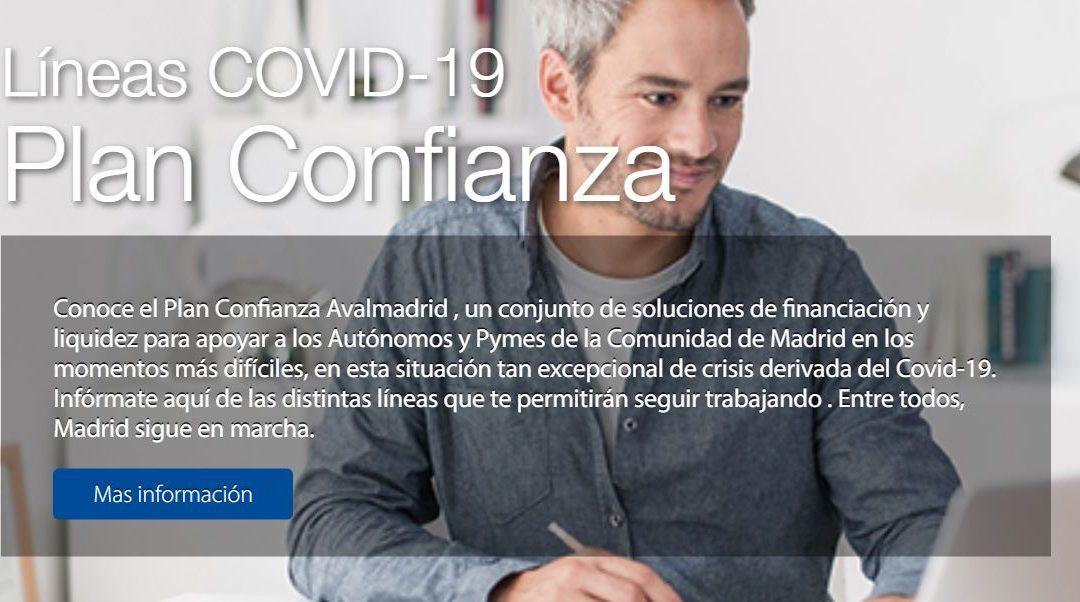 Ayudas Económicas por el COVID19: Líneas de Crédito de Avalmadrid